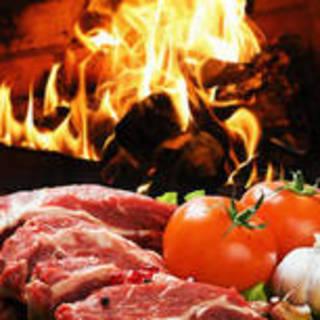 日本最大級の暖炉でお肉を調理する暖炉レストランです。