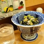 旬彩 星楽風 - 2016年10月 小松菜と豚肉あっさり煮【?円】大皿料理から。400円~になっているのではっきりとは分からず。