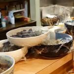 旬彩 星楽風 - 2016年10月 カウンターに並ぶ大皿料理。