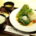 だんじり庵 - 料理写真:2016年10月 和風ソースのハンバーグ定食【税込1080円】