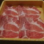 しゃぶ葉 - 料理写真:三元豚ロース