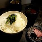 ロバ - ご飯とみそ汁