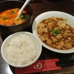 想吃担担面 - ハーフ坦担麺セット 1,200円 ハーフ坦担麺+Sサイズ陳麻婆豆腐(ライス無料)