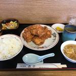 香亭 - 唐揚げ定食 850円