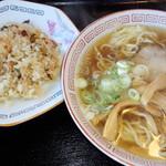 天狗 - 中華そば・半チャーハンセット2016.12