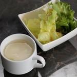 ミニサラダ+玉子スープ(おかわり自由)のセット