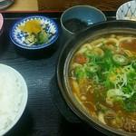 しみず - 料理写真:カレー煮込みうどん定食880円(税込)