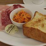 パンとエスプレッソと - トーストセット+ハムセット