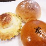 59774393 - みるくパン・ブリオッシュ(ポテトチーズ)・あんパン
