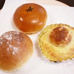 59774395 - みるくパン・ブリオッシュ(ポテトチーズ)・あんパン