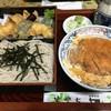 やぶ久 - 料理写真:天そば並&かつ丼