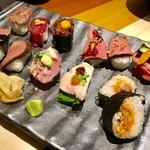 59777115 - 極上肉寿司プレート