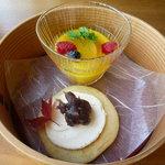ひのきざか - デザートは、マンゴープリンとどら焼き!
