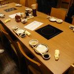 鷹勝別亭 - テーブル