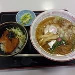 道の駅 加治川 ふれあいセンター桜館 - 料理写真:ラーメンとミニカツ丼セット