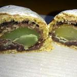 かど屋 - 博多の月・栗が丸ごと1個+小豆餡