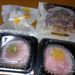かど屋 - 苺大福(小豆餡・白あん)、博多の月、元気港町(どら焼)