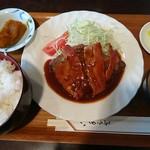 キッチンハタノ - ハンバーグ850円(2F席なら750円)