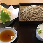 そば処 一粒 - 天ぷらせいろ蕎麦=1200円