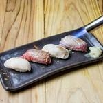 渋谷肉横丁 肉寿司 - 炙り肉寿司盛り合せ②