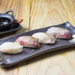 肉寿司 - 炙り肉寿司盛り合せ