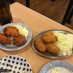 晩杯屋 - 鳥カラと牡蠣フライ