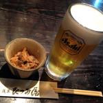 59784721 - お通し ¥350・生ビール ¥680