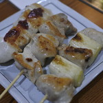 くつろぎ鉄板酔縁 - 梅紫蘇、モモ肉ささみ、ネギマ