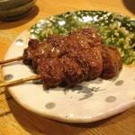 59785704 - きんぼし焼き(牛のハラミを味噌生姜だれで) 300円/本