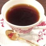 泉のテラス - ドリンクはホットコーヒー
