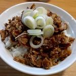 人類みな麺類 - 豚丼¥200(ランチ時)                             (タレ・マヨ無し)