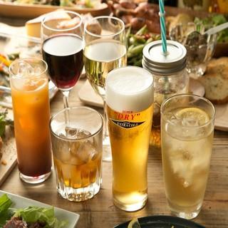 飲み放題は充実の100種類以上!テキーラや、ウォッカも♪