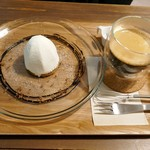 zakka+cafe KICHI. - 珈琲と栗のモンブランとホットコーヒー