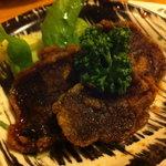 旬彩このみ - 《しし肉の竜田揚げ》濃い口醤油風の味付けで、いのししのお肉を使ったものは珍しい。