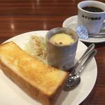 みやび珈琲店 - 料理写真:ブレンドコーヒー390円とAのトースト&茶碗蒸しのモーニング