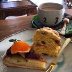 ルワム - お芋のタルトと栗のスコーン