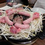 ジンギスカン霧島 - 直焼きと、間接焼き(笑)