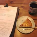 59815024 - ベイクドチーズケーキ ¥500                       そのときどきのコーヒー ¥700