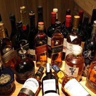 お酒が豊富!!燻製に合うボトルワイン1900円~、