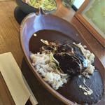香豊堂 - ハンバーグカレー  サラダ付き