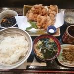 もりと - 鶏竜田揚定食 1,200円