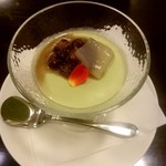 過門香 - 京宇治抹茶の杏仁豆腐
