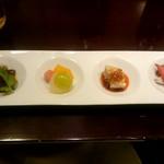 過門香 - 季節の冷菜盛合せ