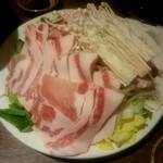 さつま黒宝庵 - 黒宝豚のしゃぶしゃぶ2人前:3,198円