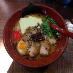 分田上 - ラーメン700円+チーズ(無料トッピング)