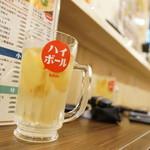 恵美須商店 - ジンジャーフルーツ漬けハイボル