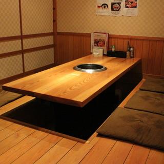 【個室完備】ゆったりとしたプライベート空間。
