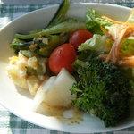 ベイサイドカフェ - ランチのサラダ