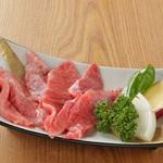 炭火焼肉 七福 - 黒毛和牛ミスジ