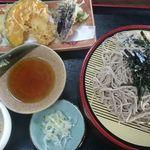 竹乃家 - 冷し天トロロそば¥1,150